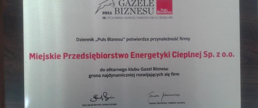 MPEC Gazelą Biznesu